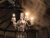 detail of mist and chandelier